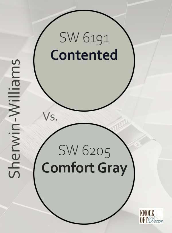 contented vs comfort gray