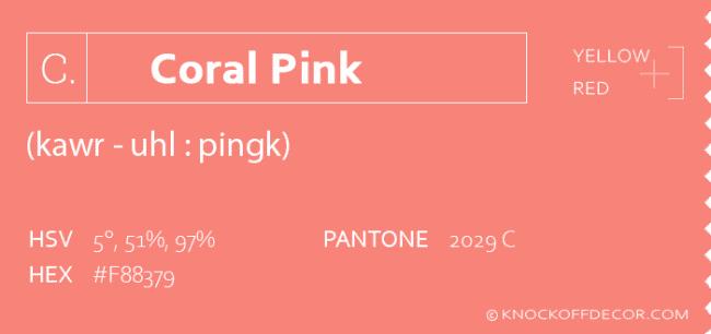 coral pink info box