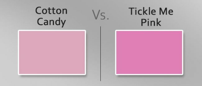 cotton candy vs tickle me pink