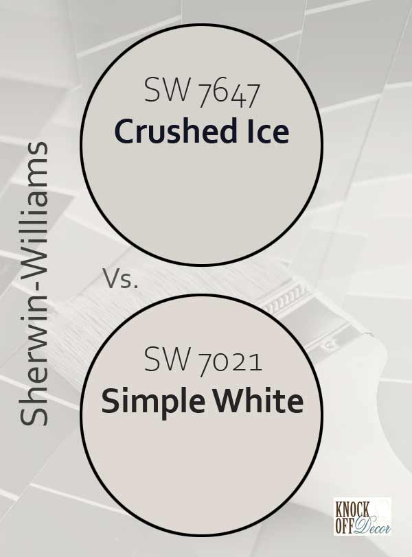 crushed ice vs simple white