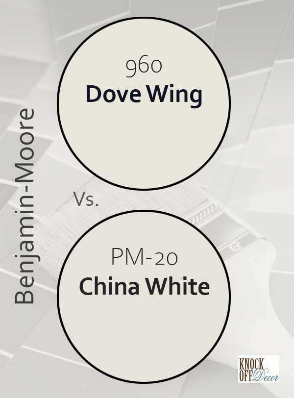 dove wing vs china white