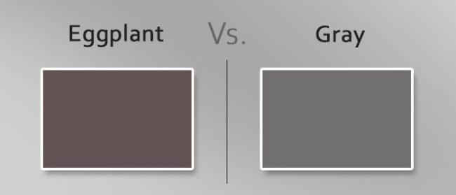 eggplant vs gray