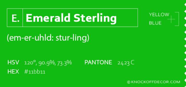 emerald sterling box