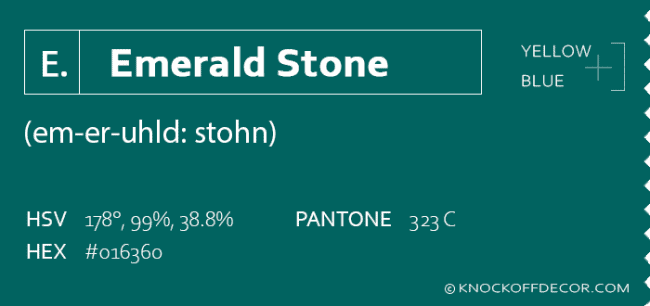 emerald stone box