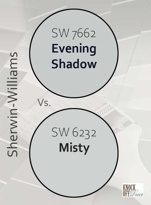 evening shadow vs misty