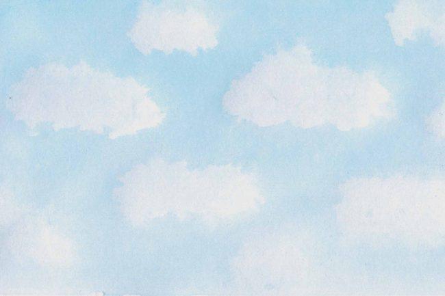 five white clouds