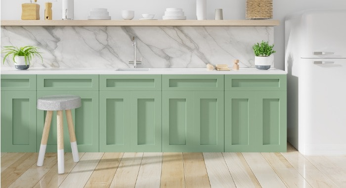 grn on cabinets