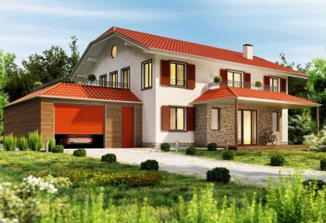 home exterior using vermilion