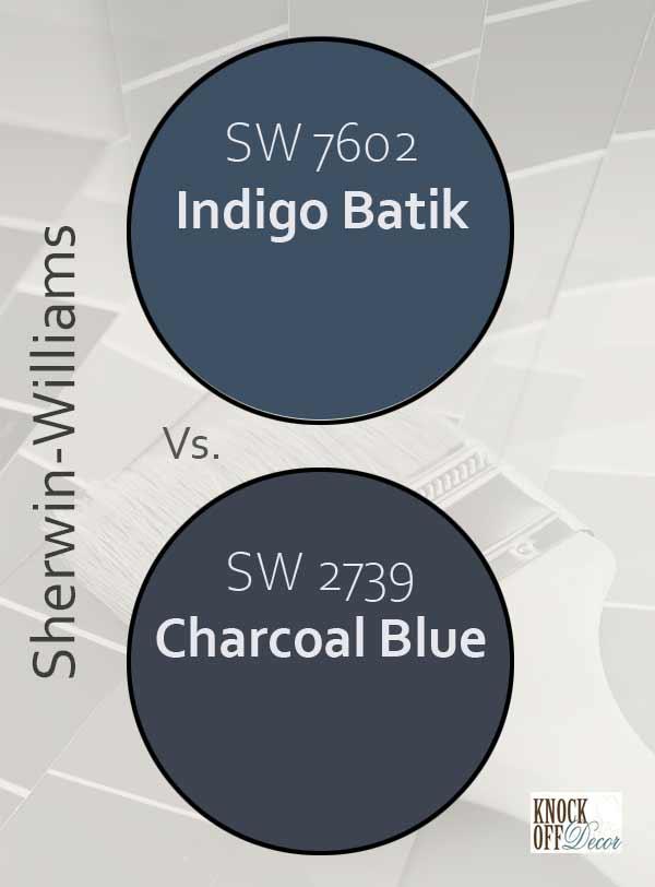 indigo batik vs charcoal blue