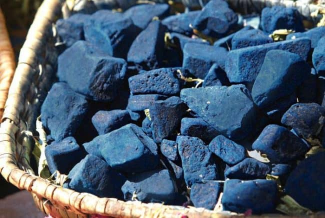 indigo colored rocks