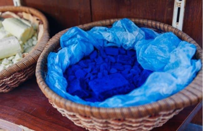 indigo dye bowl