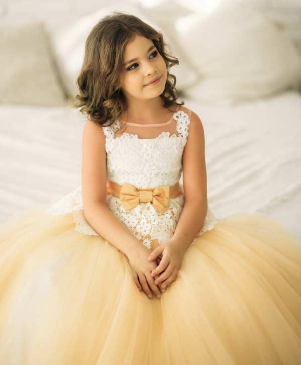 joyful peach dress