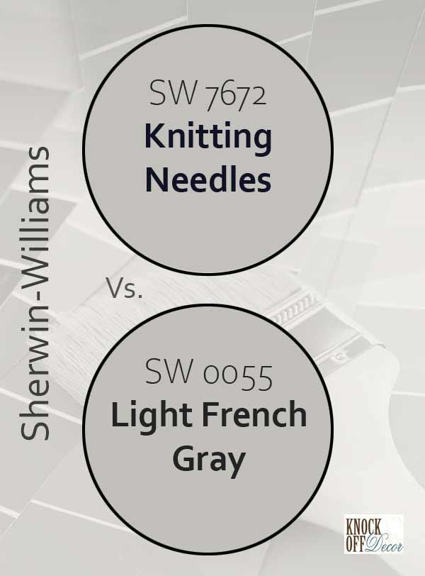 knitting needles vs light french gray