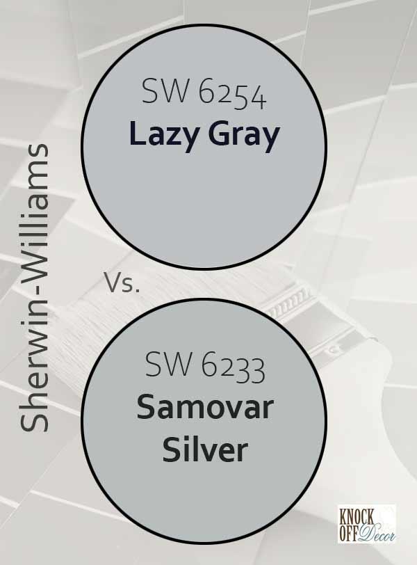 lazy gray vs samovar silver