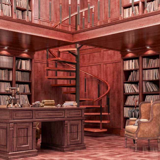 library luxury wood