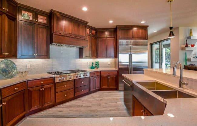 mahogany kitchen example
