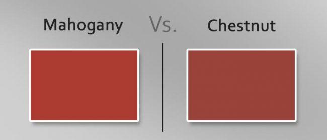 mahogany vs chestnut