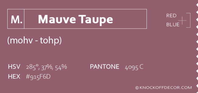 mauve taupe info box
