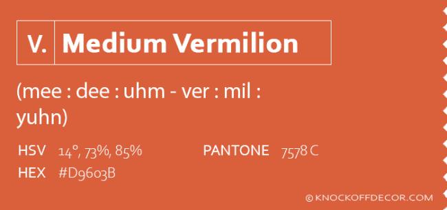 medium vermilion info box