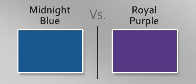 midnight blue vs royal purple