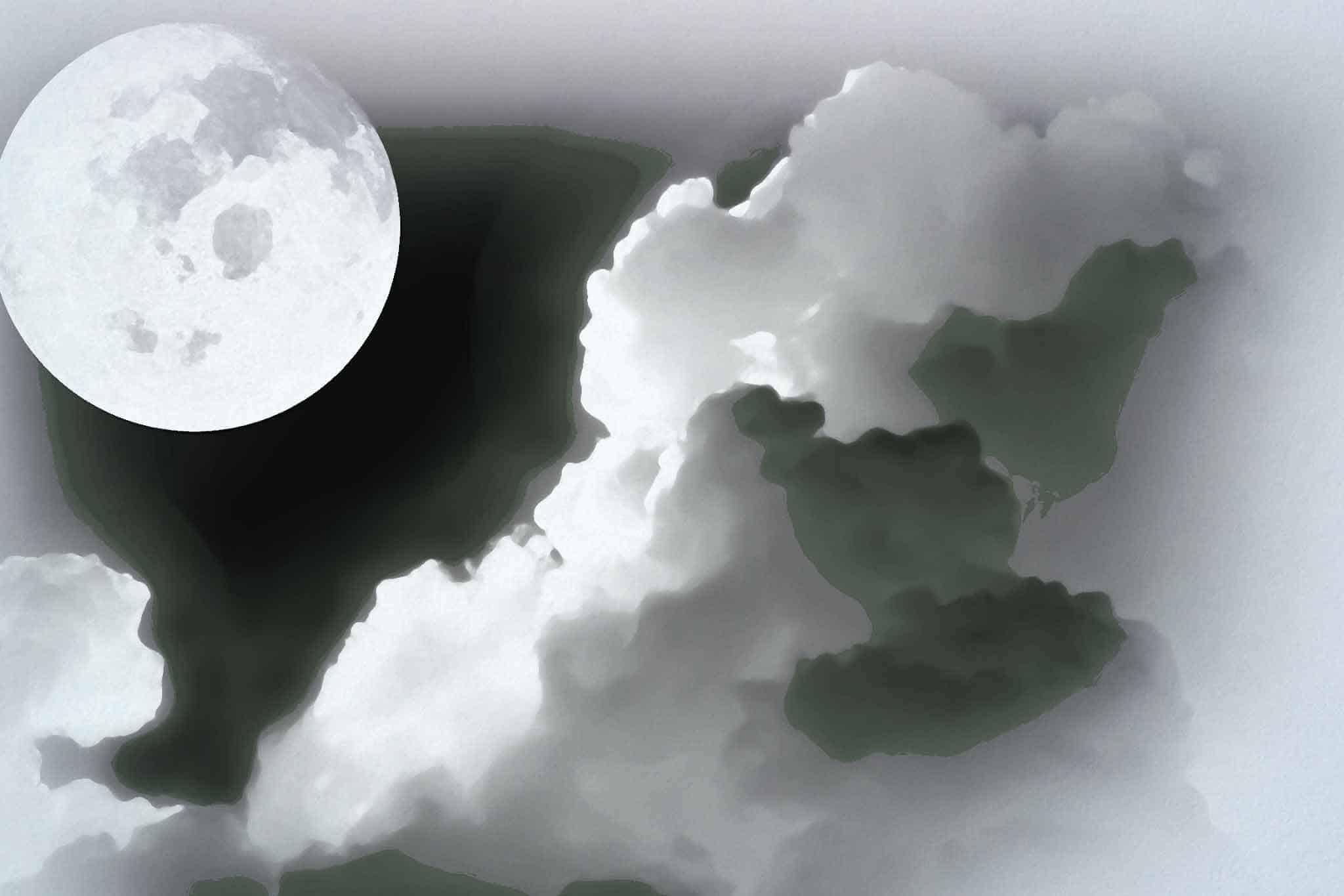 moon night black