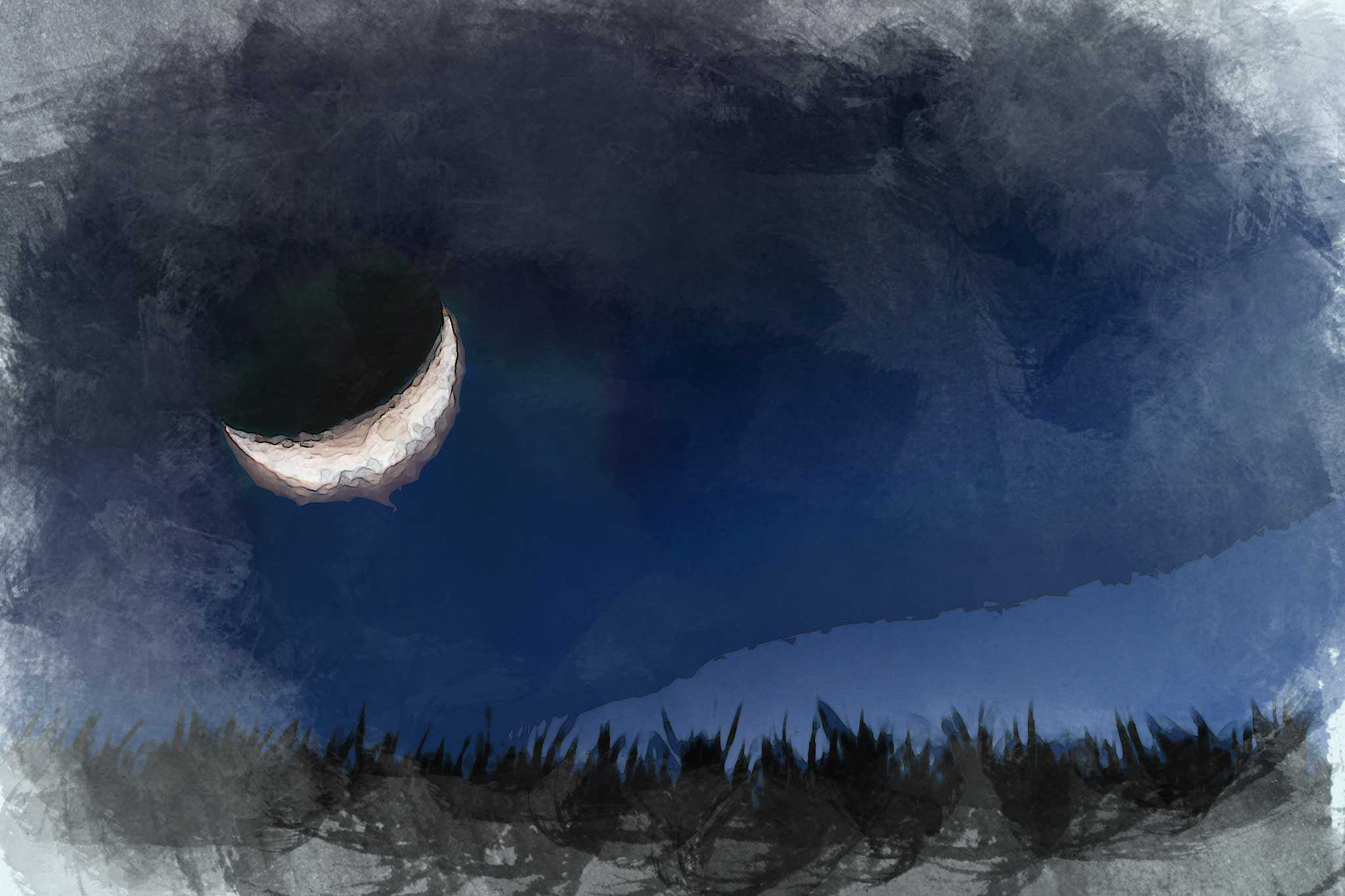moon night blue