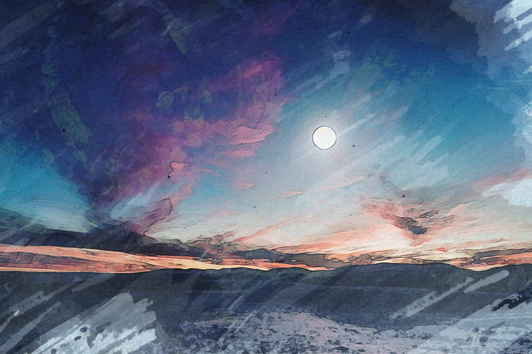 moon night bluemoon