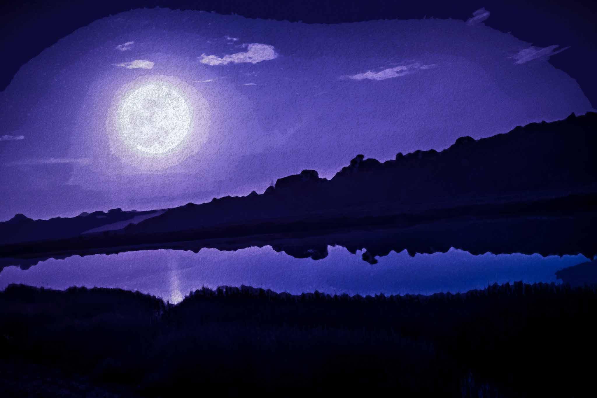 moon night river