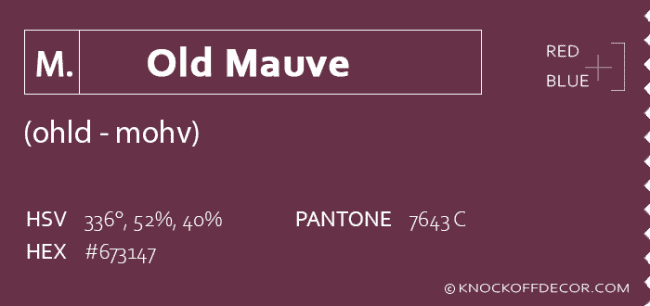 old mauve info box