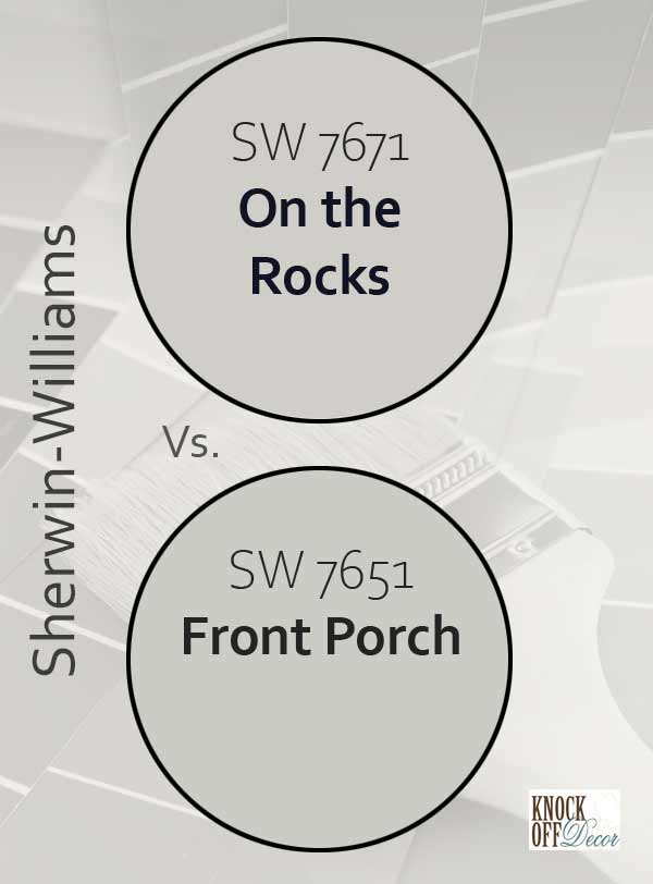 on the rocks vs front porch