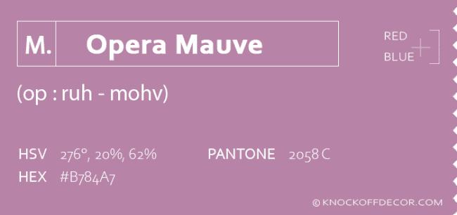 opera mauve info box