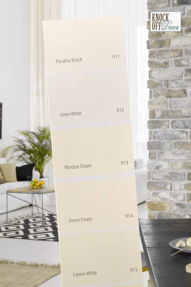 paint strip bm linen wht