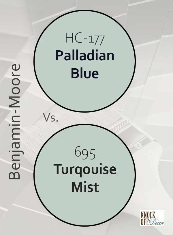palladian blue vs turqouise mist