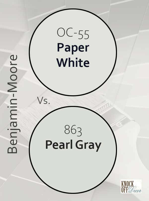 paper white vs pearl gray