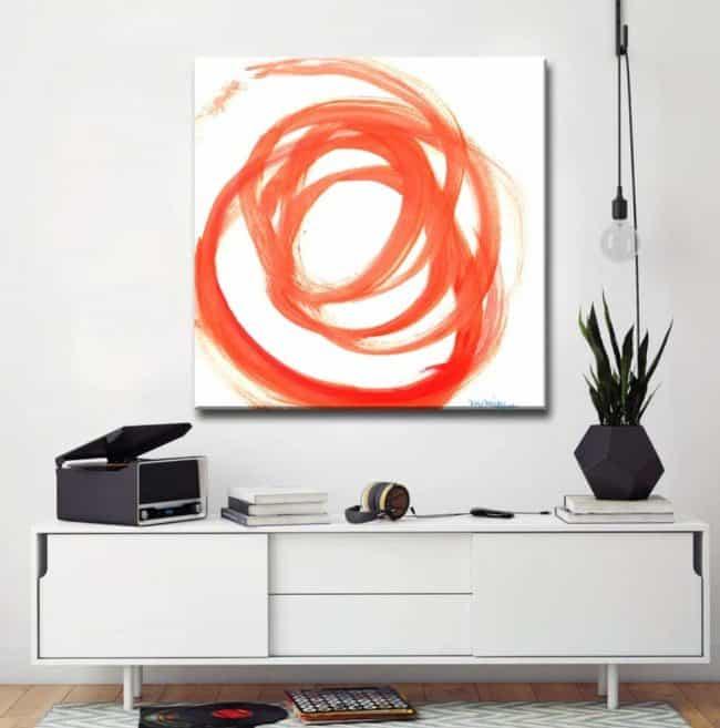 peach colored artwork example