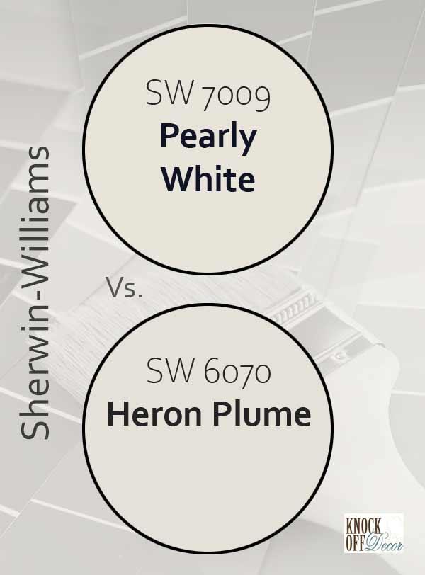 pearly white vs heron plume