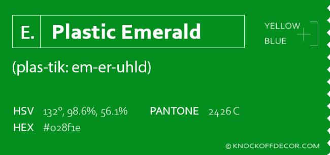 plastic emerald box