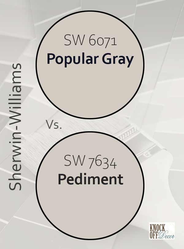 popular gray vs pediment