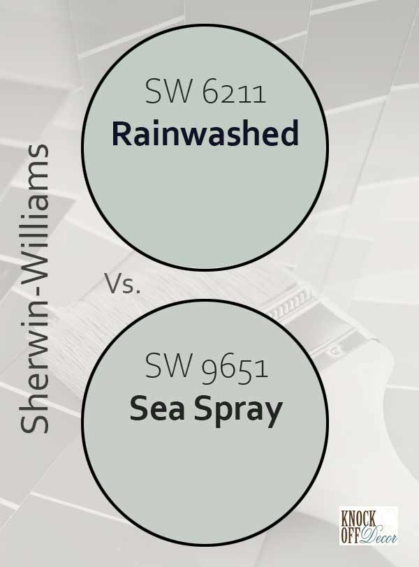 rainwashed vs sea spray