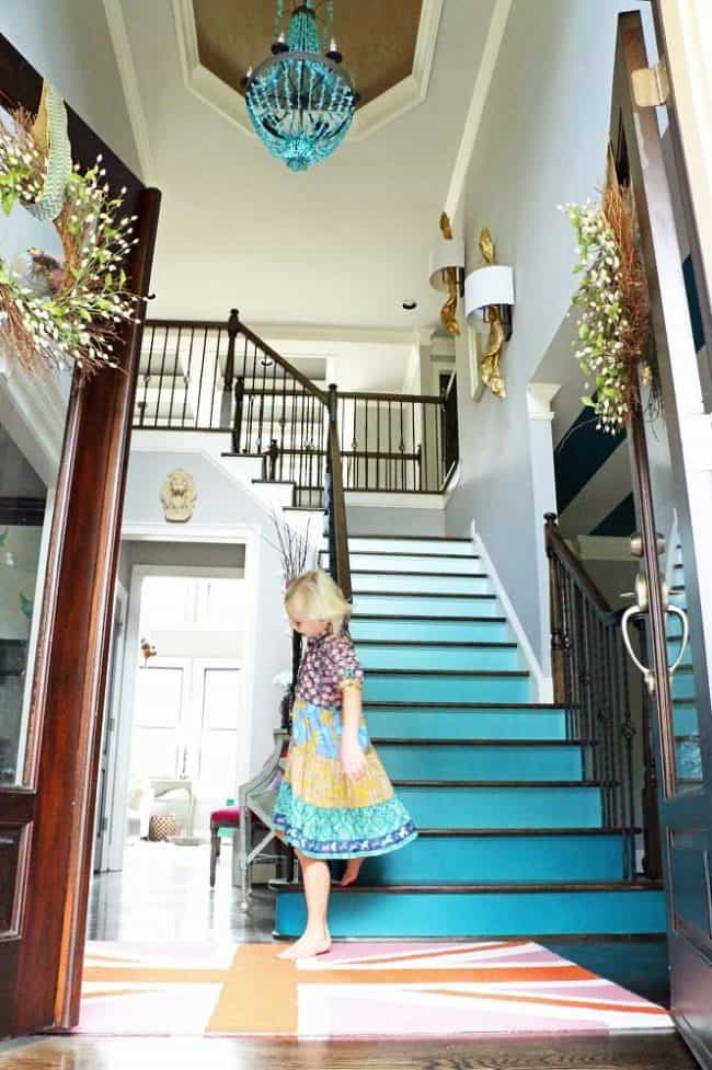 really teal stairs photo