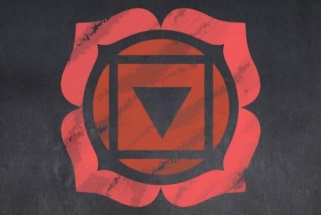 red coral chakra insignia