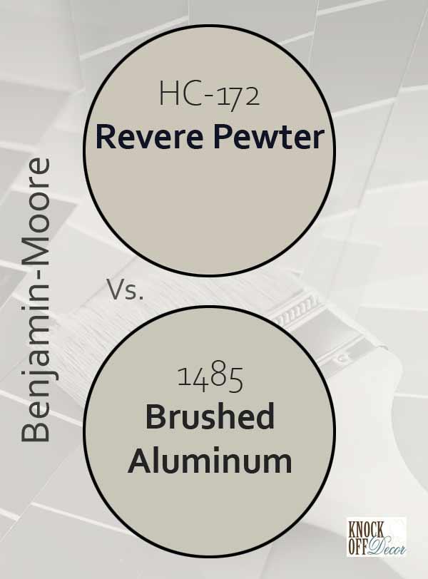revere pewter vs brushed aluminum