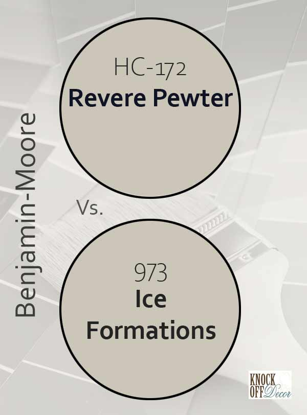revere pewter vs ice formations