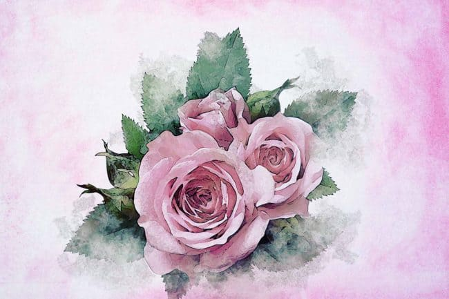 rose pink leaf bouquet