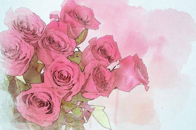 rose pink small bouquet