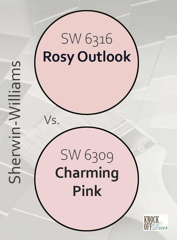 rosy outlook vs charming pink