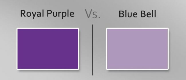 royal purple vs blue bell