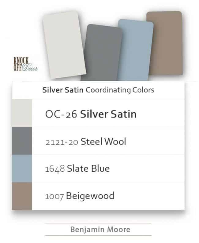 silver satin coordination