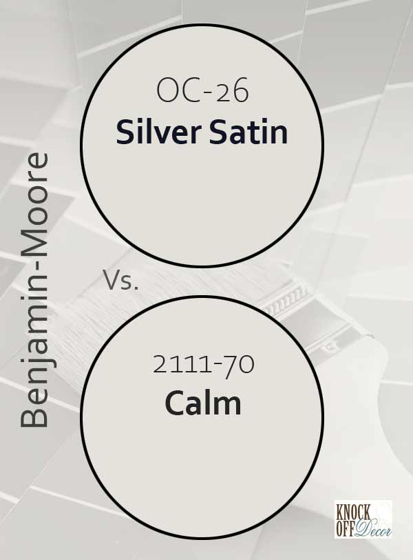 silver satin vs calm