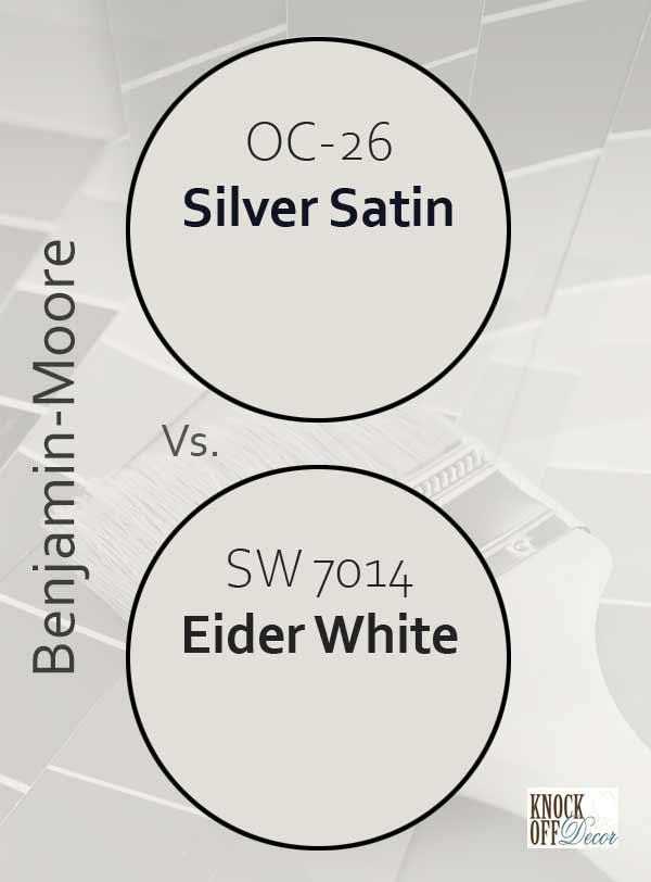 silver satin vs eider white